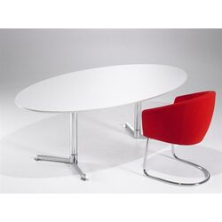 Casus Oval Conference Table by Toine van den Heuvel-Casus Oval Veneer Table