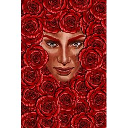 'Bed of Roses' Graphic Art on Wrapped Canvas