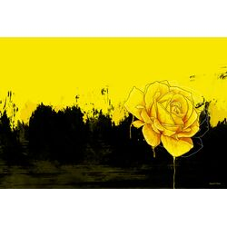 'Yellow Rose' Graphic Art on Canvas