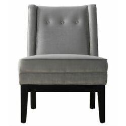Alexander Velvet Side Chair in Grey