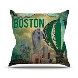 Boston Outdoor Throw Pillow
