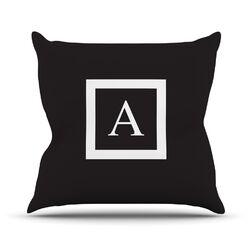 Monogram Solid Throw Pillow