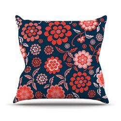 Cherry Floral Throw Pillow