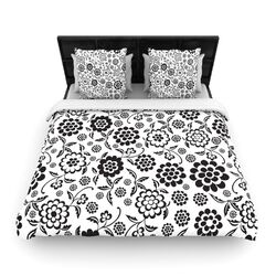 Cherry Floral White Duvet Cover Collection