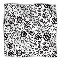 Cherry Floral White Microfiber Fleece Throw Blanket