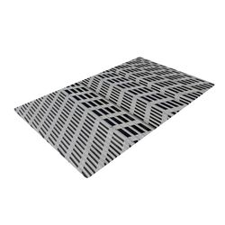 The Grid Gray/Black Novelty Rug