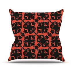 Oval Orange Love Throw Pillow