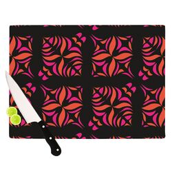 Orange on Black Tile Cutting Board