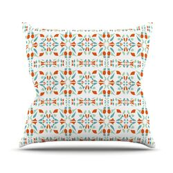 Italian Kitchen Orange Throw Pillow