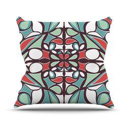 Brown Round Tiles Throw Pillow