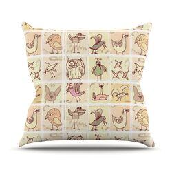 Birdies Throw Pillow