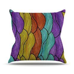 Textiles 2 Throw Pillow
