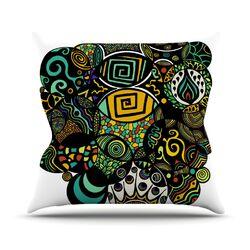 Multicolor Life Throw Pillow