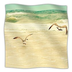 Karate Kid Pose Microfiber Fleece Throw Blanket