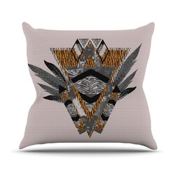 Indian Feather Throw Pillow