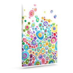 'Inner Circle White' by Catherine Holcombe Graphic Art on Wrapped Canvas