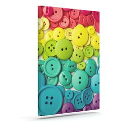 'Cute as a Button' by Libertad Leal Photographic Print on Wrapped Canvas