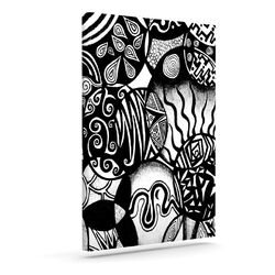 'Circles and Life' by Pom Graphic Graphic Art on Wrapped Canvas