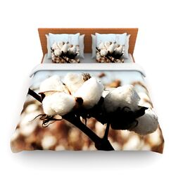 Southern Snow by Beth Engel Fleece Duvet Cover