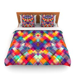 Squares Everywhere by Danny Ivan Fleece Duvet Cover