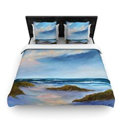 Wet Sand by Rosie Brown Fleece Duvet Cover