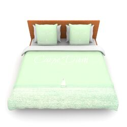 Carpe Diem by Robin Dickinson Fleece Duvet Cover