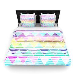 Stripes Cushion by Sreetama Ray Woven Duvet Cover