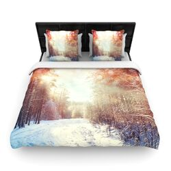 Winter Walkway by Snap Studio Fleece Duvet Cover