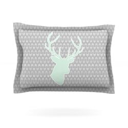Winter Deer by Pellerina Design Woven Pillow Sham