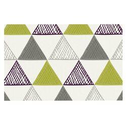 Textured Triangles Green by Laurie Baars Decorative Doormat