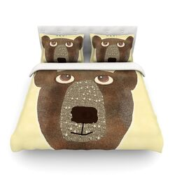 Bear by Bri Buckley Light Cotton Duvet Cover