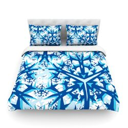 Winter Mountains by Miranda Mol Light Cotton Duvet Cover