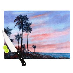 Florida Sunset by Rosie Brown Palm Tree Cutting Board