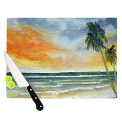 End of Day by Rosie Brown Beach Cutting Board
