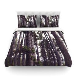 Woods by Leah Flores Woven Duvet Cover