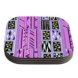 American Blanket Pattern II by Vikki Salmela Coaster