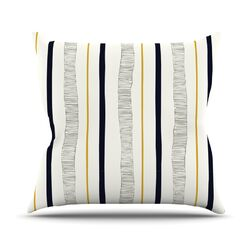 Textured Stripes by Laurie Baars Abstract Throw Pillow