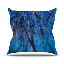 Red White Tropical by Rosie Brown Throw Pillow