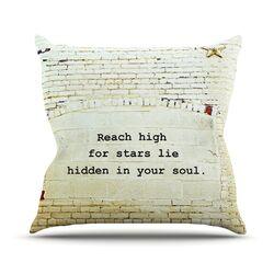 Reach High by Robin Dickinson Brick Wall Throw Pillow
