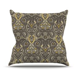 Vintage Damask by Suzie Tremel Throw Pillow