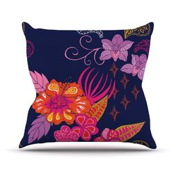 Tropical Paradise by Anneline Sophia Floral Throw Pillow