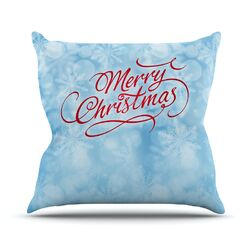 Merry Christmas by Snap Studio Typography Throw Pillow
