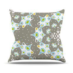 Ornamental Splash Silver by Miranda Mol Throw Pillow