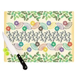 Flowers and Leaves Pattern by Famenxt Cutting Board
