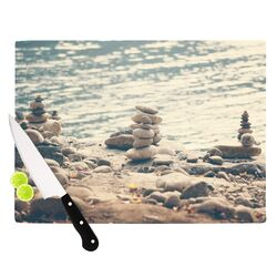 River Cairns by Catherine McDonald Cutting Board