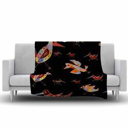 Birds Fleece Throw Blanket