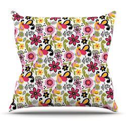 Pretty Florals by Carolyn Greifeld Throw Pillow