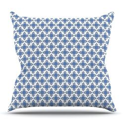 Bohemian Blues III by Carolyn Greifeld Throw Pillow