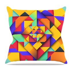 Shapes II by Danny Ivan Throw Pillow