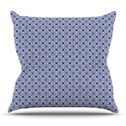Bohemian Blues II by Carolyn Greifeld Throw Pillow